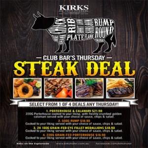 Kirks thursday steak deal